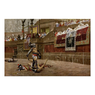 Ancient Roman Gladiators Poster