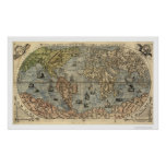 Ancient World Forlani Map By Paolo Forlani 1565 Poster