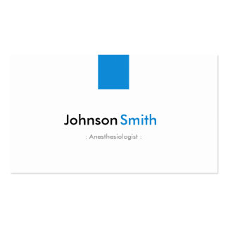 Anesthesiologist - Simple Aqua Blue Pack Of Standard Business Cards