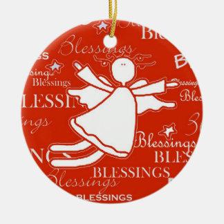 Angel Blessings Christmas Ornament