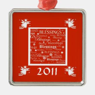 Angel Blessings Custom Christmas 2011 Ornament