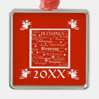 Angel Blessings Custom Christmas Year Ornament