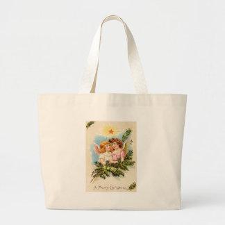 Angel Cherub Evergreen Bough Heaven Jumbo Tote Bag