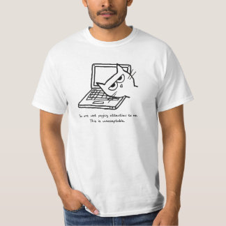 Angry Cat Demands Attention Shirts