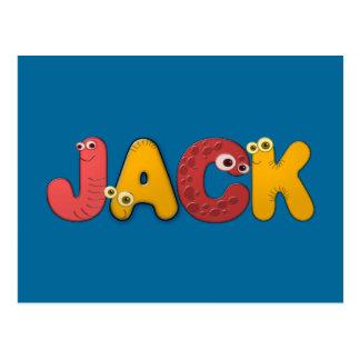 animal alphabet Jack Postcard