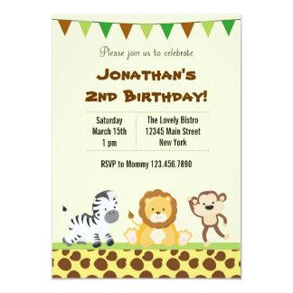 Animal Safari Birthday Party Invitation