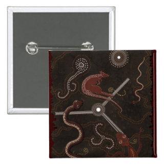 """Animal Tracks"" Australian Aboriginal Style Button"