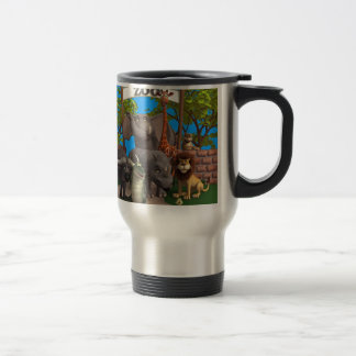Animals at the Zoo Stainless Steel Travel Mug