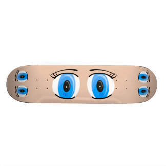 Anime Blue Eyes Skateboard