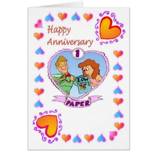 Anniversary card - 1st paper