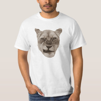Annoyed Snarling Lion Cat Tshirt