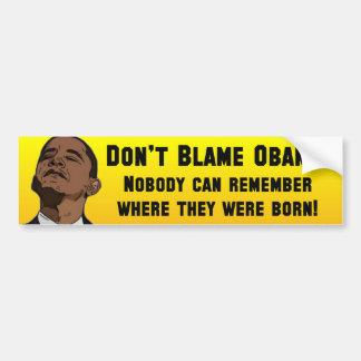 Anti Barack Obama Birther Bumper Sticker
