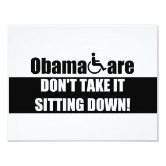 Anti ObamaCare 11 Cm X 14 Cm Invitation Card