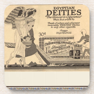 Antique Advertisement for Egyptian Cigarettes Drink Coaster