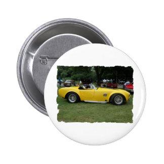antique classic car show pic raw 016 6 cm round badge