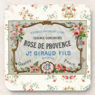 Antique French Rose Advertisement Beverage Coaster