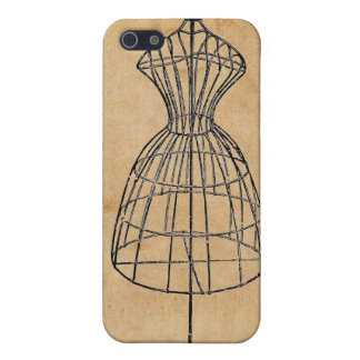 Antique Victorian Steampunk Wire Lady Dress Form iPhone 5/5S Cases