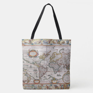 Antique World Map bags Tote Bag