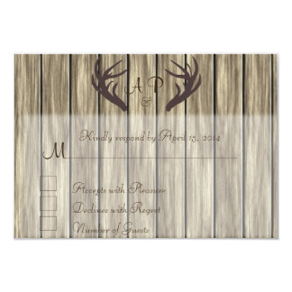 Antler RSVP Card 9 Cm X 13 Cm Invitation Card