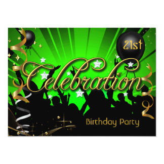 Any Age Birthday Party Celebration Teens or Adults 14 Cm X 19 Cm Invitation Card