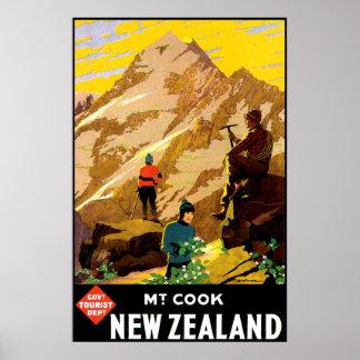 Aoraki Mount Cook New Zealand Poster
