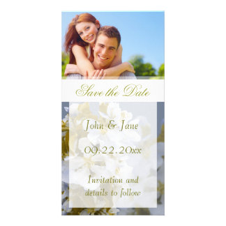 """Apple Blossom/photo  """"Save the Date"""" Customised Photo Card"""