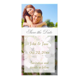 """Apple Blossom/photo  """"Save the Date"""" Photo Card Template"""