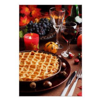 Apple Pie For Thanksgiving Poster