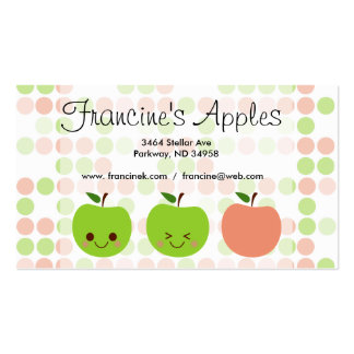 Apple Sass Pack Of Standard Business Cards