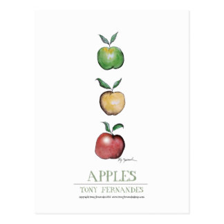 Apples, tony fernandes postcard