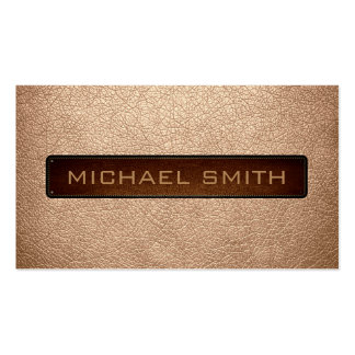 Apricot Leather Look Professional Pack Of Standard Business Cards