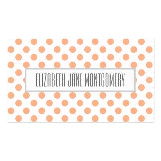 Apricot Polkadot Modern Appointment Business Card