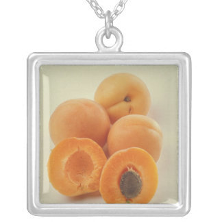 Apricots For use in USA only.) Square Pendant Necklace