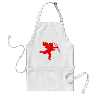Apron Cupid Red Plain