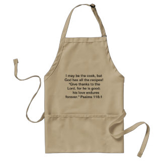 Apron with a clever saying and a Bible scripture