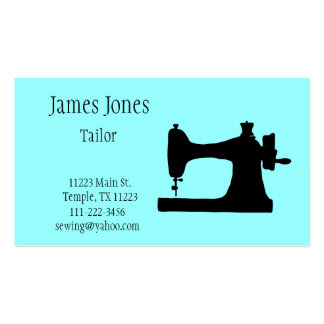 Aquamarine Sewing Machine Tailor Business Card