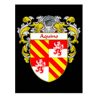 Aquino Coat of Arms (Mantled) Postcard