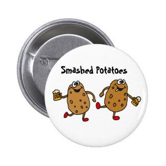 AR- Smashed Potatoes Cartoon 6 Cm Round Badge