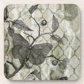 Arabesque Butterflies I Coasters