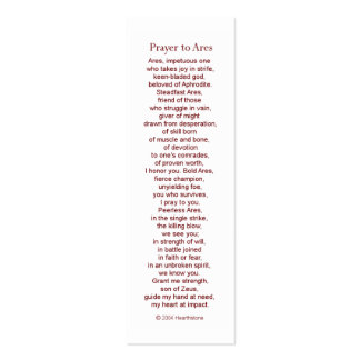 Ares Prayer Card Pack Of Skinny Business Cards
