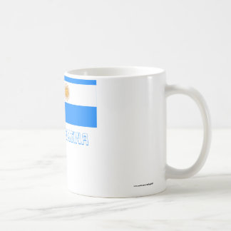 Argentina Flag with Name Basic White Mug