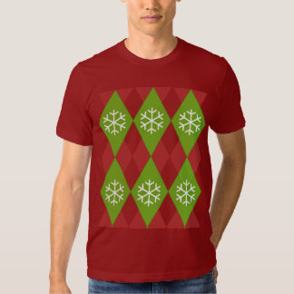 Argyle Ugly Christmas Sweater Pattern T-Shirt