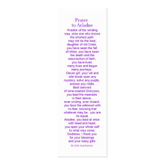Ariadne Prayer Card Pack Of Skinny Business Cards