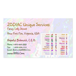ARIES + all Zodiac Symbols on back Pack Of Standard Business Cards