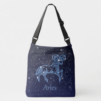 Aries Constellation and Zodiac Sign with Stars Tote Bag