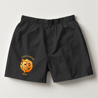 Aries Zodiac Birthday Sign With Your Custom Name Boxers