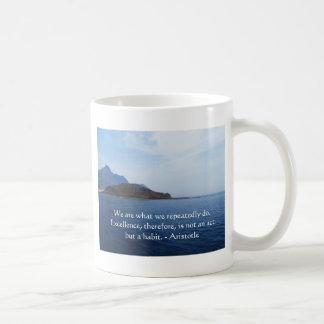 Aristotle Excellence Quotation Basic White Mug