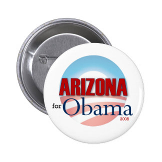Arizona for Obama 6 Cm Round Badge