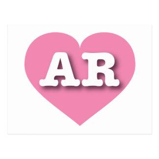 Arkansas pink heart - Big Love Postcard