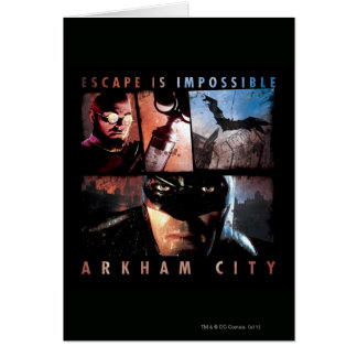 Arkham City Escape is Impossible Greeting Card